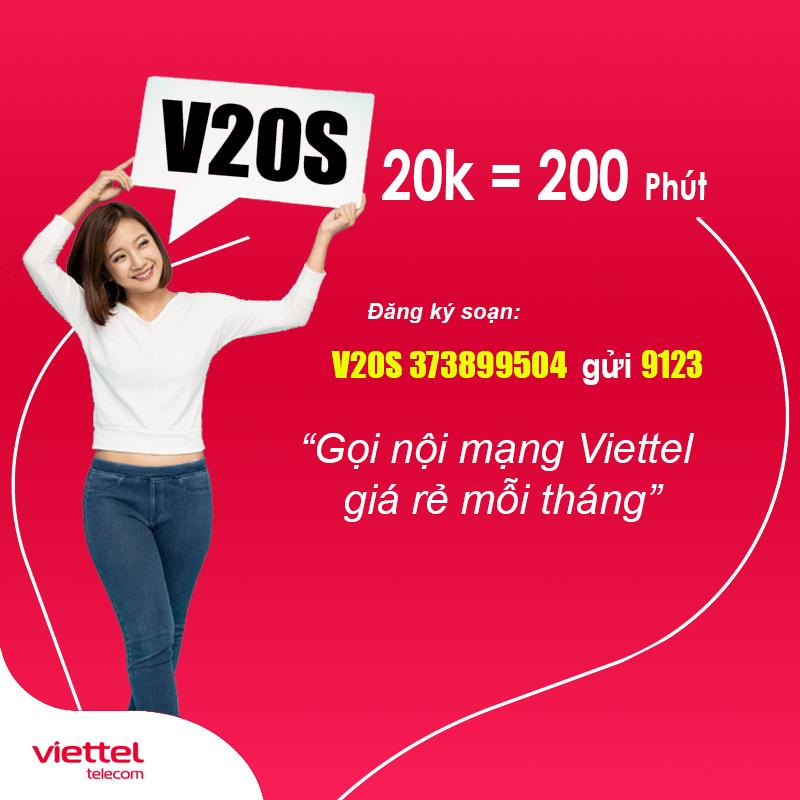 Hướng dẫn đăng ký gói nội mạng Viettel tháng 20k có 200 phút miễn phí